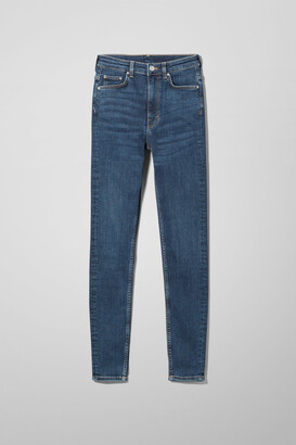 Weekday Body Extra High Skinny Jeans - Blue