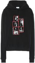 Saint Laurent Printed cotton hoodie