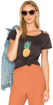 Chaser Painted Pineapple Tee in Charcoal
