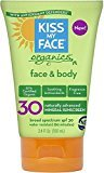 Kiss My Face Body & Face Mineral Sunscreen, SPF 30 3.4 oz (Pack of 12)