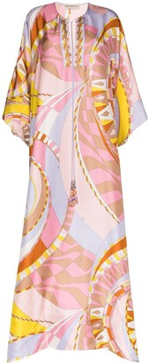 Emilio Pucci Wally-print kaftan dress