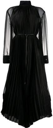 Sacai sheer pleated dress