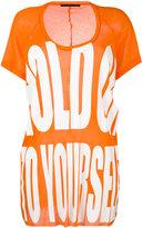Haider Ackermann printed T-shirt - women - Cotton/Nylon/Viscose - XS