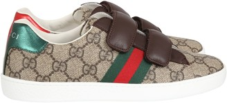 Gucci Beige Sneakers For Boy With Logo
