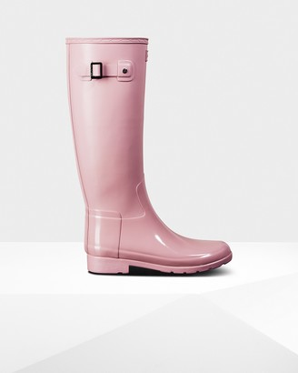 Hunter Women's Refined Slim Fit Gloss Duo Tall Wellington Boots
