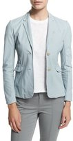 ATM Anthony Thomas Melillo Leather Schoolboy Blazer, Powder Blue