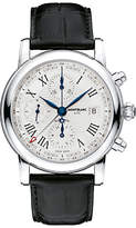 Montblanc 107113 Star Chronograph Utc Automatic Alligator Strap Watch, Black/white
