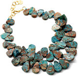 Nest Cluster Bib Necklace, Ocean Agate