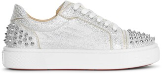 Christian Louboutin Vierissima 2 glitter leather sneakers