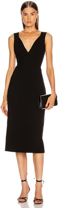 Victoria Beckham Cami Fitted Dress in Black | FWRD