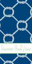 The Well Appointed House Personalized Beach Towel with Nautical Rope Pattern