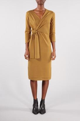 Selected Bronze Brown Naya Wrap A Dress - XSMALL