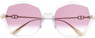 Christian Dior DiorLink2 hexagonal sunglasses