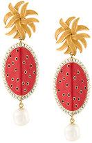 Dolce & Gabbana fruit pearl earrings