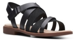 Clarks Collection Women's Declan Mix Flat Sandals Women's Shoes