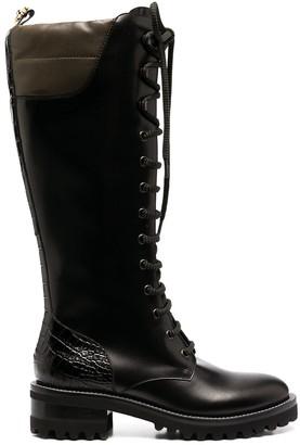 Fabrizio Viti Leather Knee-Length Boots