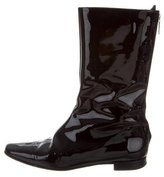 Manolo Blahnik Patent Leather Mid-Calf Boots