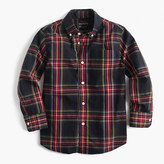 J.Crew Kids' long-sleeve shirt in Stewart plaid