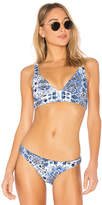 Seafolly Reversible Fixed Tri Top in Blue. - size Aus 10/US 6 (also in Aus 12/US 8,Aus 14/US 10,Aus 6/US 2,Aus 8/US 4)
