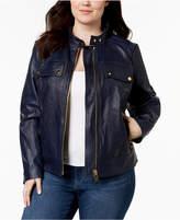 MICHAEL Michael Kors Size Leather Moto Jacket