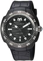 Technomarine Men's Quartz Watch with Black Dial Analogue Display and Black Silicone Strap TM-515009