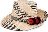 Yosuzi Cream & Black Siruma Straw Hat