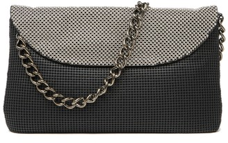 Whiting & Davis Metal Mesh Dimple Flap Clutch