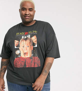 ASOS DESIGN Home Alone Plus oversized Holidays t-shirt with large front print
