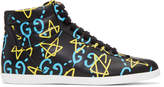 Gucci Black GucciGhost High-Top Sneakers