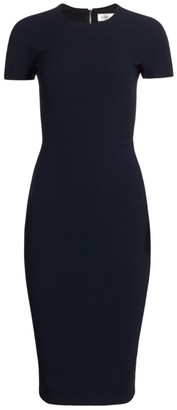 Victoria Beckham Fitted Crepe T-Shirt Dress