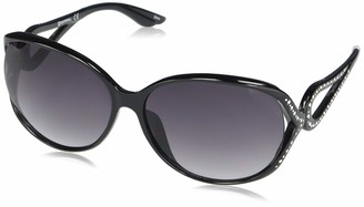 Southpole Women's 1032SP Oval Vented Sunglasses with Studded Temple Accents & 100% UV Protection 65 mm