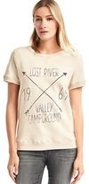 Gap Lost river graphic short sleeve sweatshirt