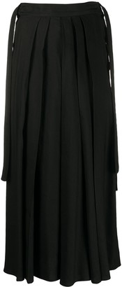 McQ Swallow High-Waisted Wide-Leg Trousers