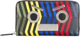 Fendi stripy face zip wallet - men - Calf Leather - One Size