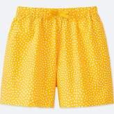 Uniqlo Girl's Easy Flare Printed Shorts