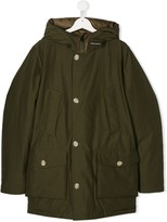 Woolrich Kids TEEN hooded mid-length parka
