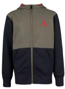 Jordan Big Boys Colorblock Fleece Full-Zip Hoodie
