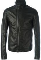 Rick Owens leather jacket - men - Calf Leather/Cotton/Cupro - 48