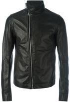 Rick Owens leather jacket - men - Cotton/Calf Leather/Cupro - 48