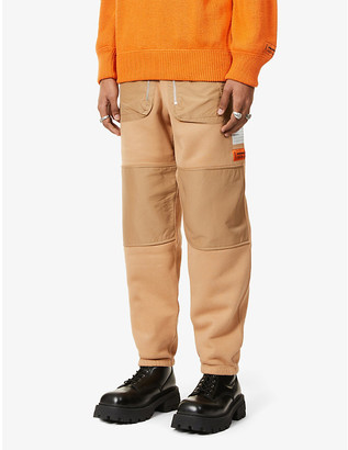 Heron Preston Patch-pocket cotton-jersey jogging bottoms