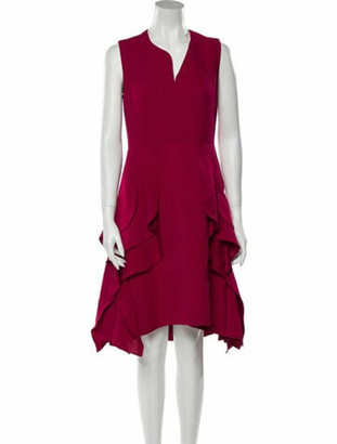DELPOZO V-Neck Knee-Length Dress w/ Tags