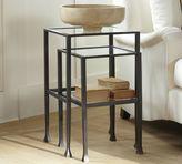Pottery Barn Tanner Nesting Side Tables - Bronze finish