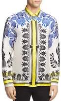 Versace Grecian Pattern Silk Button-Down Shirt