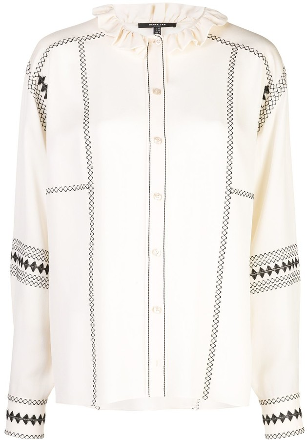 Derek Lam Embroidered Shirt