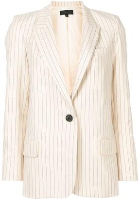 Nili Lotan Stripe-Print Single Breasted Blazer