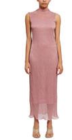 Callipygian Pleated Lurex Dress