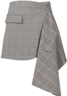 Monse Asymmetric Patch Skirt