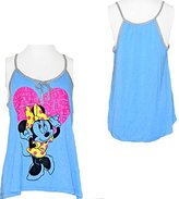 Disney Disney's Teen/Junior Fashion Tank Top Minnie Mouse Heart Labels, S
