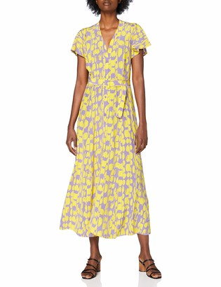 French Connection Women's ISLANNA Crepe Printed MIDI DRS Business Casual Dress