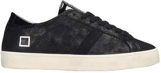 D.A.T.E Hill Low Sneakers In Black Leather